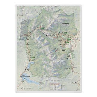 Rocky Mountain map poster