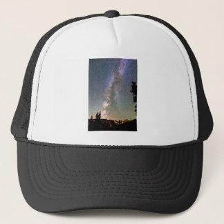 Rocky Mountain Milky Way and Falling Star Trucker Hat