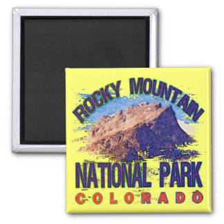 Rocky Mountain National Park 2 Inch Square Magnet