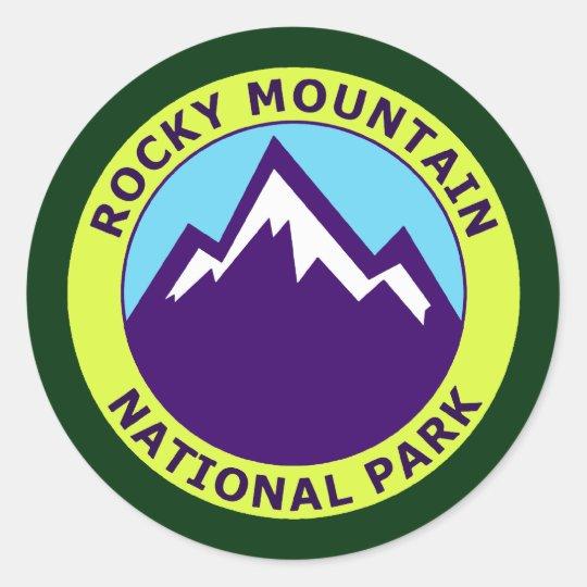 ROCKY MOUNTAIN NATIONAL PARK CLASSIC ROUND STICKER