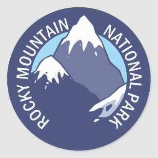 Rocky Mountain National Park Classic Round Sticker