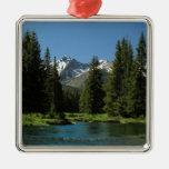 Rocky Mountain National Park , Colorado 2 Square Metal Christmas Ornament