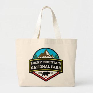 ROCKY MOUNTAIN NATIONAL PARK COLORADO MOUNTAINS LARGE TOTE BAG