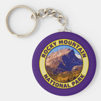 Rocky Mountain National Park Basic Round Button Keychain