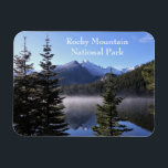"""Rocky Mountain National Park Magnet<br><div class=""""desc"""">Bear Lake gives a perfect reflection of Longs Peak in Rocky Mountain National Park. Add this magnet to your fridge or file cabinet and get several to share with friends and family. It&#39;s a great time to start a fridge magnet collection for your mom.</div>"""
