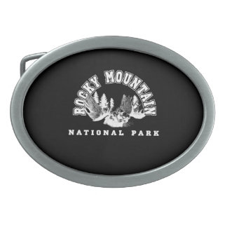 Rocky Mountain National Park Oval Belt Buckle