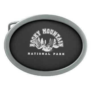 Rocky Mountain National Park Oval Belt Buckle