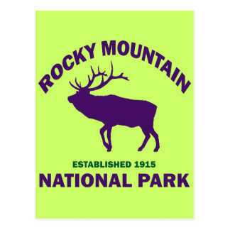 ROCKY MOUNTAIN NATIONAL PARK POST CARD