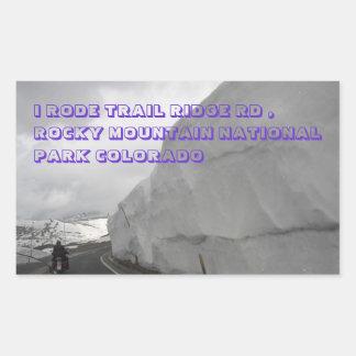 ROCKY MOUNTAIN NATIONAL PARK RECTANGULAR STICKER