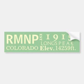 Rocky Mountain national park stats Car Bumper Sticker