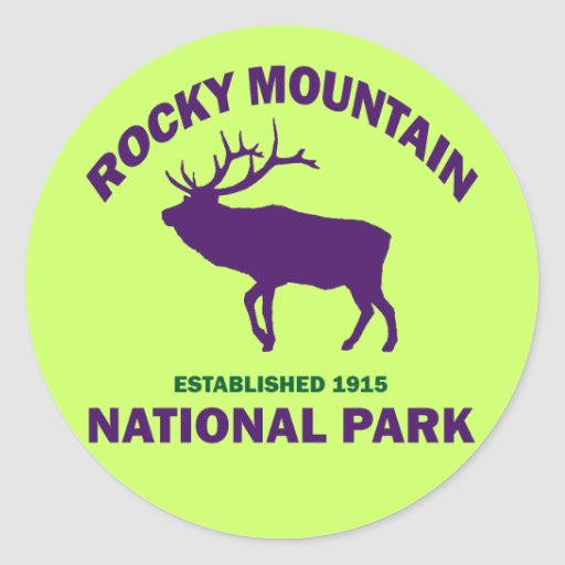 ROCKY MOUNTAIN NATIONAL PARK STICKERS
