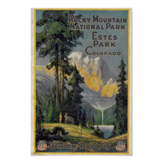 Rocky Mountain National Park Vintage Poster Zazzle Com