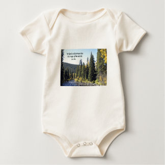 Rocky Mountain National Park with quote Baby Bodysuit