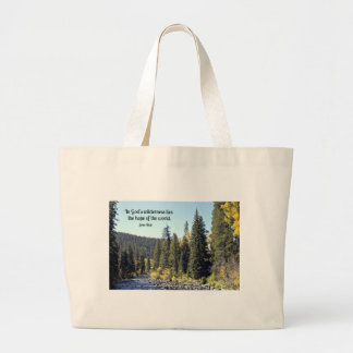 Rocky Mountain National Park with quote Large Tote Bag