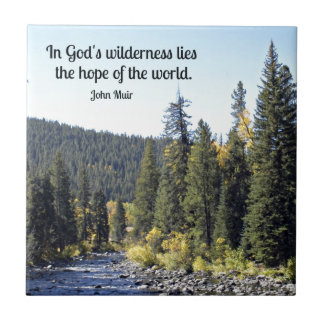 Rocky Mountain National Park with quote Small Square Tile
