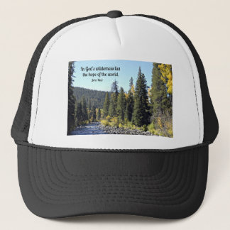 Rocky Mountain National Park with quote Trucker Hat