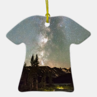 Rocky Mountain Night Double-Sided T-Shirt Ceramic Christmas Ornament