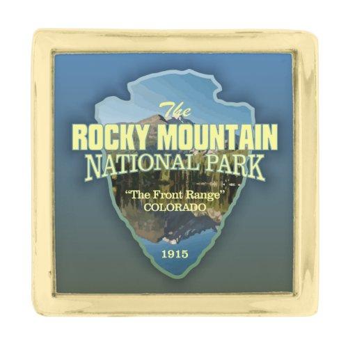 Rocky Mountain NP (arrowhead) Gold Finish Lapel Pin