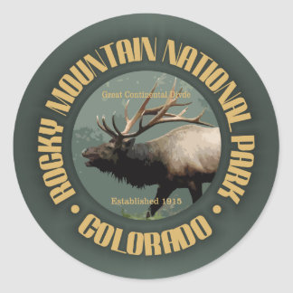 Rocky Mountain NP Classic Round Sticker