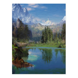 Rocky Mountain Oil Painting Greeting Cards