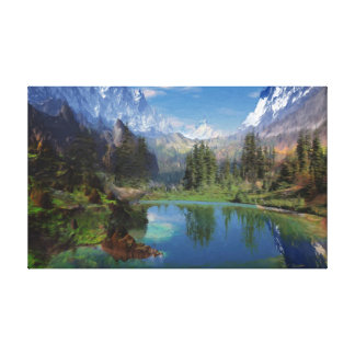 Rocky Mountain Oil Painting on Canvas Prints