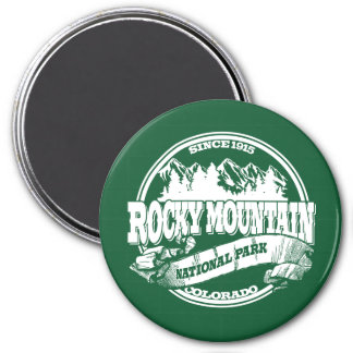 Rocky Mountain Old Circle Green 3 Inch Round Magnet