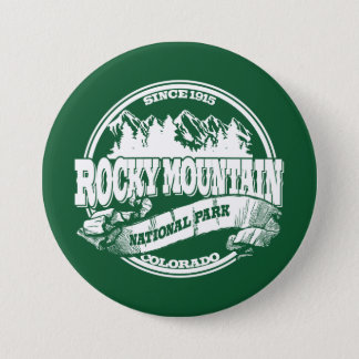 Rocky Mountain Old Circle Green Pinback Button
