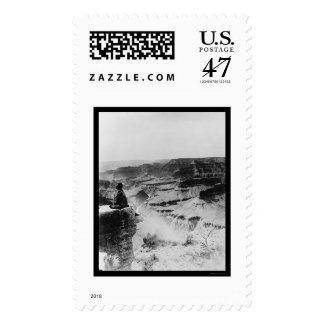 Rocky Mountain Park Birdseye 1922 Postage Stamp