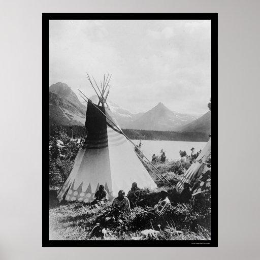 Rocky Mountain Park Indians 1895 Print