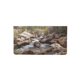 Rocky Mountain Park River Scene Checkbook Cover