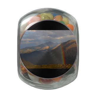 Rocky Mountain Rainbow Jelly Belly Candy Jar
