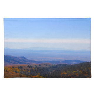 Rocky Mountain Range Picture Western Decor Cloth Placemat