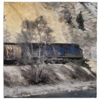 Rocky Mountain Ranger Train Cloth Napkin