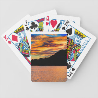 Rocky Mountain Reflection Bicycle Playing Cards