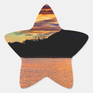 Rocky Mountain Reflection Star Sticker