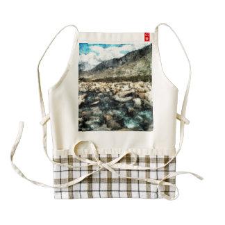Rocky mountain river zazzle HEART apron