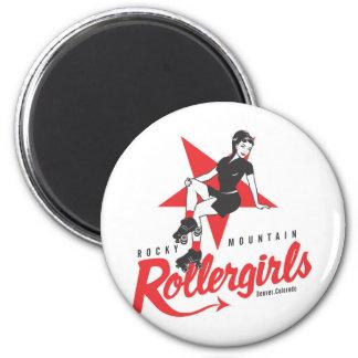 Rocky Mountain Rollergirls 2 Inch Round Magnet