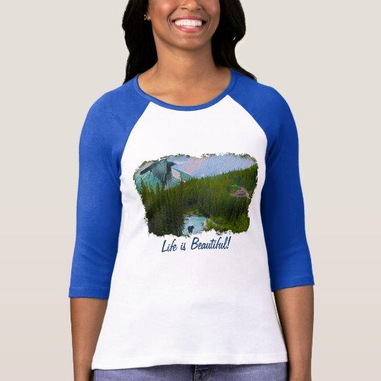 Rocky Mountain Scene with Wildlife Shirt