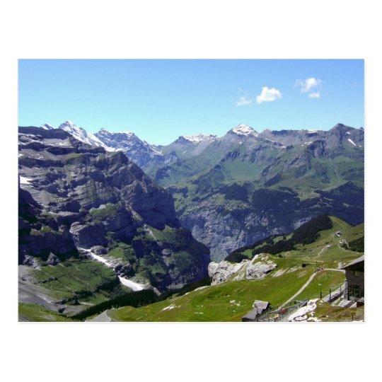 Rocky mountain slopes postcard
