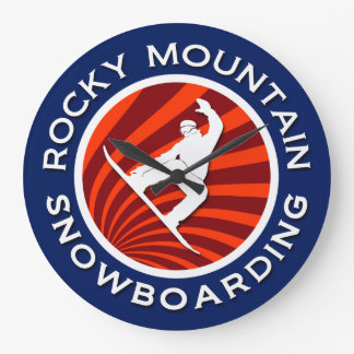 Rocky Mountain Snowboarding Clocks