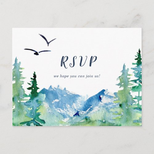 Rocky Mountain Song Request RSVP Postcard