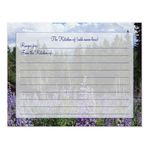 Rocky Mountain Summer Recipe Card
