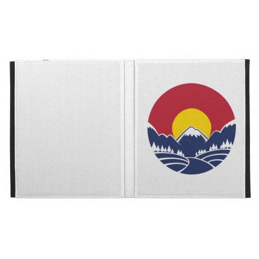 Rocky Mountain Sunset Logo iPad Folio Cases