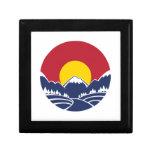 Rocky Mountain Sunset Logo Trinket Boxes