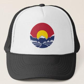 Rocky Mountain Sunset Logo Trucker Hat
