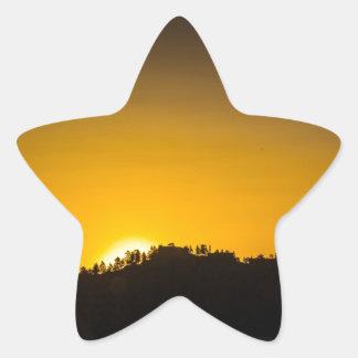 Rocky Mountain Sunset Star Sticker
