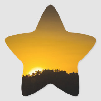 Rocky Mountain Sunset Star Stickers
