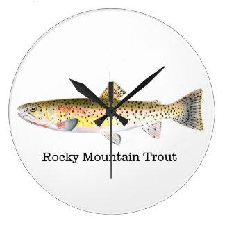 Rocky Mountain Trout Fish Wall Clock