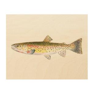 Rocky Mountain Trout Fish Wood Print