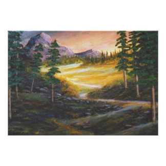Rocky Mountain Valley Poster